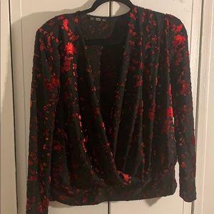 NWOT Zara cross front blouse